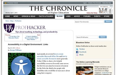 http://chronicle.com/blogs/profhacker/accessibility-in-a-digital-environment-links/33519
