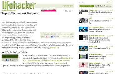 http://lifehacker.com/311387/top-10-distraction-stoppers