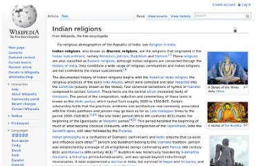http://en.wikipedia.org/wiki/Indian_religions