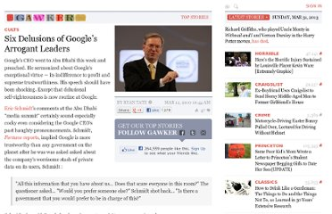 http://gawker.com/5491756/six-delusions-of-googles-arrogant-leaders
