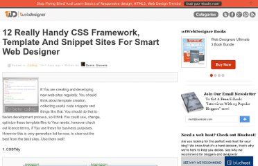http://www.1stwebdesigner.com/css/12-really-handy-css-framework-template-and-snippet-sites-for-smart-web-designer/