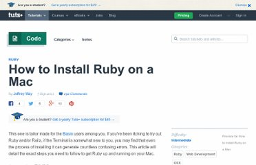 http://net.tutsplus.com/tutorials/ruby/how-to-install-ruby-on-a-mac/