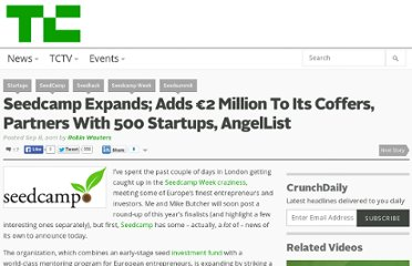 http://techcrunch.com/2011/09/08/seedcamp-expands-adds-e2-million-to-its-coffers-partners-with-500-startups-angellist/