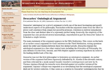http://plato.stanford.edu/entries/descartes-ontological/