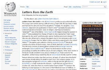 http://en.wikipedia.org/wiki/Letters_from_the_Earth
