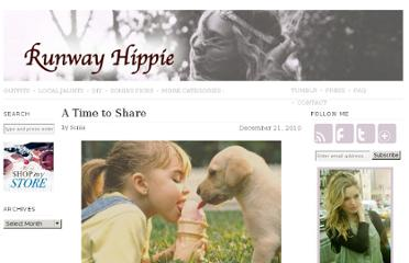 http://runwayhippie.com/2010/12/21/a-time-to-share/