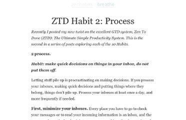http://zenhabits.net/ztd-habit-2-process/
