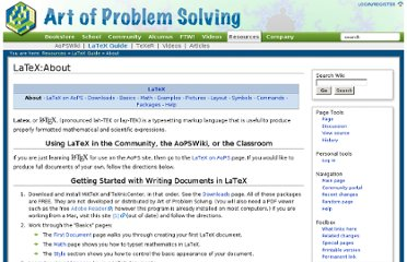 http://www.artofproblemsolving.com/Wiki/index.php/LaTeX:About