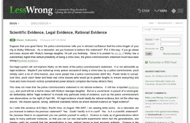 http://lesswrong.com/lw/in/scientific_evidence_legal_evidence_rational/