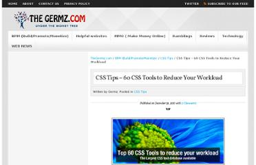 http://www.thegermz.com/ramblings/60-css-tools-to-reduce-your-work-load/