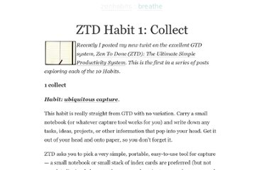 http://zenhabits.net/ztd-habit-1-collect/