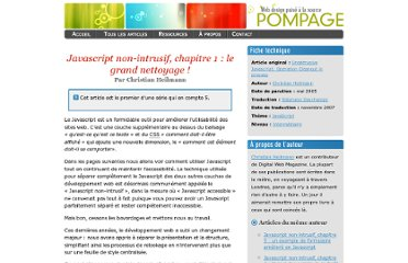 http://www.pompage.net/traduction/javascript-non-intruisif-chapitre-1
