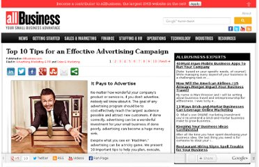 http://www.allbusiness.com/10-tips-effective-advertising/16566950-1.html