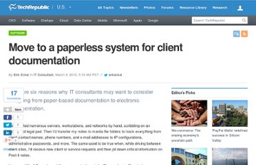 http://www.techrepublic.com/blog/project-management/move-to-a-paperless-system-for-client-documentation/1493