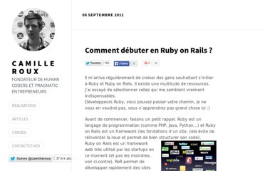http://www.camilleroux.com/2011/09/08/comment-debuter-en-ruby-on-rails/