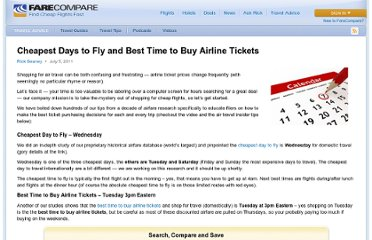 http://www.farecompare.com/travel-advice/tips-from-air-travel-insiders/