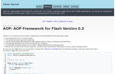 http://www.simonwacker.com/weblog/2004/07/25/aop-aop-framework-for-flash-version-02/