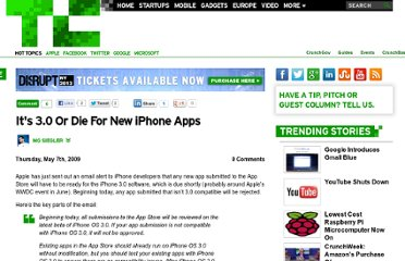 http://techcrunch.com/2009/05/07/its-30-or-die-for-new-iphone-apps/