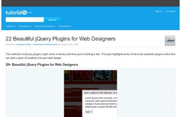 http://www.tutorial9.net/downloads/22-beautiful-jquery-plugins-for-web-designers/