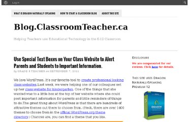 http://blog.classroomteacher.ca/1176/special-text-boxes-class-website-alert-parents-students-important-information/