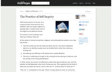 http://travise.hubpages.com/hub/The-Practice-of-Self-Inquiry