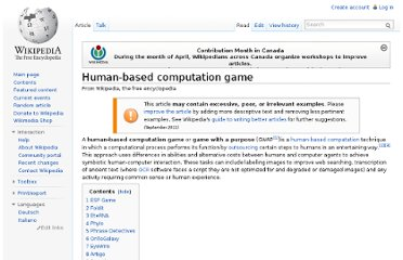 http://en.wikipedia.org/wiki/Human-based_computation_game
