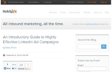 http://blog.hubspot.com/blog/tabid/6307/bid/24509/An-Introductory-Guide-to-Highly-Effective-LinkedIn-Ad-Campaigns.aspx