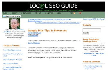 http://www.localseoguide.com/google-plus-shortcuts-tips/#comment-13404