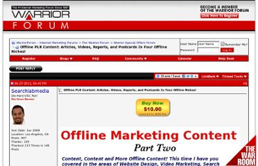 http://www.warriorforum.com/warrior-special-offers-forum/404309-offline-private-label-rights-content-articles-videos-reports-postcards-four-offline-niches.html