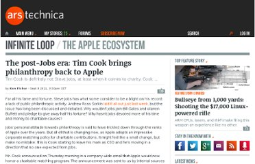 http://arstechnica.com/apple/news/2011/09/the-post-jobs-era-tim-cook-brings-philanthropy-back-to-apple.ars