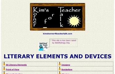 http://www.kimskorner4teachertalk.com/readingliterature/literary_elements_devices/menu.htm