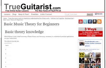 http://www.trueguitarist.com/basic-music-theory-for-beginners/