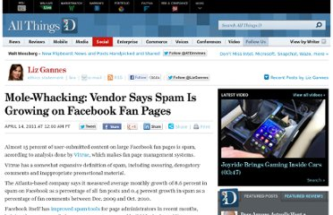 http://allthingsd.com/20110414/mole-whacking-vendor-says-spam-is-growing-on-facebook-fan-pages/