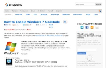 http://www.sitepoint.com/windows-7-god-mode/