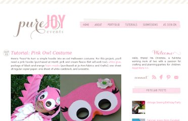 http://www.purejoyeventsblog.com/2010/10/girly-owl-costume-tutorial.html