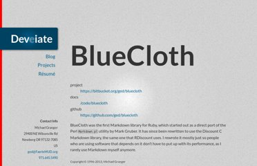 http://deveiate.org/projects/BlueCloth
