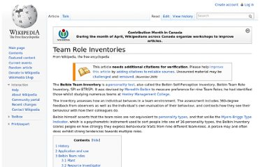 http://en.wikipedia.org/wiki/Team_Role_Inventories