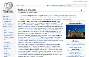 http://en.wikipedia.org/wiki/Catholic_Church