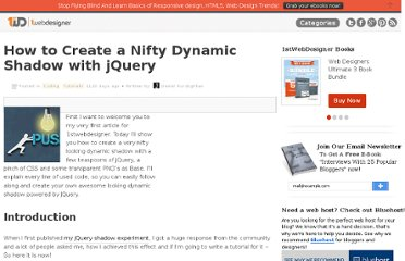 http://www.1stwebdesigner.com/css/how-to-create-a-nifty-dynamic-shadow-with-jquery/