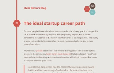 http://cdixon.org/2009/10/22/the-ideal-startup-career-path/