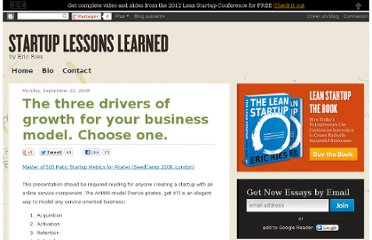 http://www.startuplessonslearned.com/2008/09/three-drivers-of-growth-for-your.html