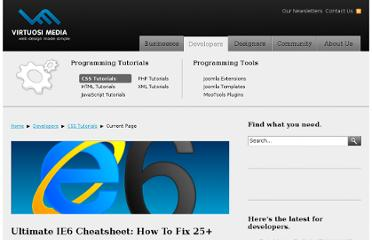http://www.virtuosimedia.com/dev/css/ultimate-ie6-cheatsheet-how-to-fix-25-internet-explorer-6-bugs#one-hundred-percent-height