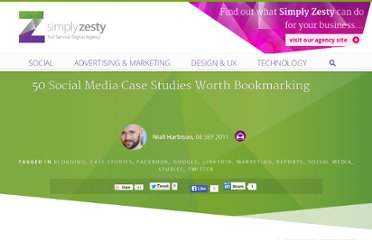 http://www.simplyzesty.com/social-media/50-social-media-case-studies-worth-bookmarking/