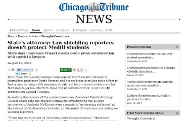 http://articles.chicagotribune.com/2011-08-10/news/ct-met-protess-hearing-20110810_1_medill-innocence-project-medill-students-student-journalists