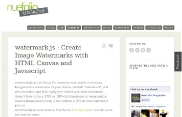 http://magazine.nuefolio.com/2011/03/watermark-js-create-image-watermarks-with-html-canvas-and-javascript/