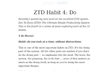 http://zenhabits.net/ztd-habit-4-do/