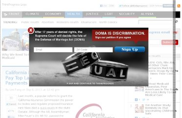 http://thinkprogress.org/health/2011/09/08/314278/california-health-insurers-hire-tobacco-lobbyists-pay-top-lawmaker-tens-of-thousands-in-direct-payments/