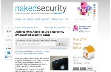 http://nakedsecurity.sophos.com/2010/08/11/jailbreakme-apple-issues-emergency-iphoneipad-security-patch/