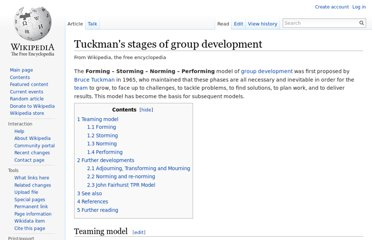 http://en.wikipedia.org/wiki/Tuckman%27s_stages_of_group_development