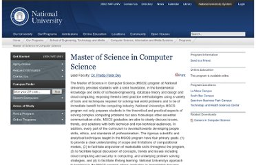 http://www.nu.edu/OurPrograms/SchoolOfEngineeringAndTechnology/ComputerScienceAndInformationSystems/Programs/720-609.html
